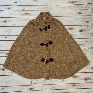 MICHAEL KORS Toggle Front Sweater Knit Cape